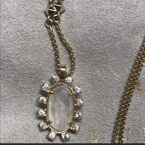 Gold and clear Stone Kendra Scott Necklace